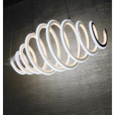 Люстра белая подвесная Спираль 6015