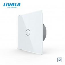 Выключатель сенсорный LIVOLO Touch Control Glass одноклав. бел