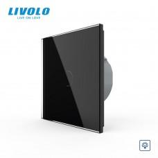 Выключатель сенсорный LIVOLO Touch Control Glass одноклав. черн