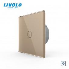 Выключатель сенсорный LIVOLO Touch Control Glass одноклав. зол