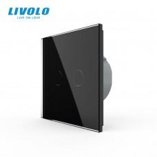 Выключатель сенсорный LIVOLO Touch Control Glass двуклав. чер