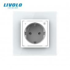 Розетка LIVOLO Touch Control Glass (белая)