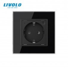 Розетка LIVOLO Touch Control Glass (черная)