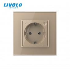 Розетка LIVOLO Touch Control Glass (золото)