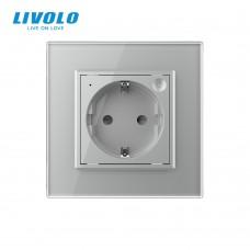 Розетка LIVOLO Touch Control Glass (серая)