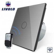 Выключатель сенсорный LIVOLO (одноклав.сер) дист управление