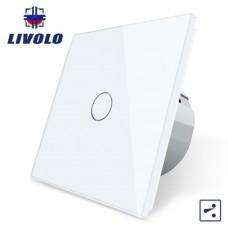 Выключатель сенсорный LIVOLO  (одноклав.бел) проходной