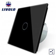 Выключатель сенсорный LIVOLO  (одноклав.чер) проходной