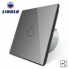 Выключатель сенсорный LIVOLO  (одноклав.сер) проходной
