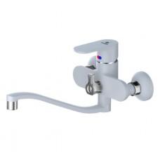 Calorie ванна-душ станд. стальной полуоборот литой белый 2533А45М