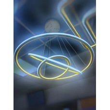 Люстра LED белая подвесная Кольцо 3 уровня 83158