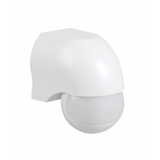 Датчик движения ДД 010 белый, макс. нагрузка 1100Вт, угол обзора 180град., дальность 10м, IP44, ИЭК