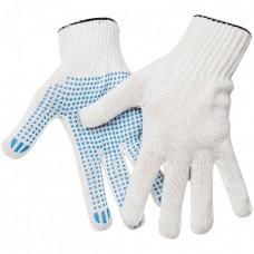 Перчатки ПВХ 5 нитей (10) Точка белый
