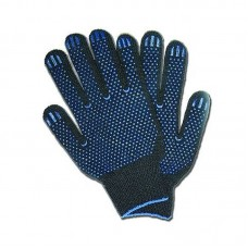 Перчатки ПВХ 5 нитей (10) Точка черная