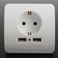 Розетка + USB (2 входа)