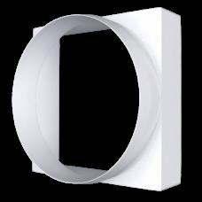 Соединитель квадрата 100*100 с круглым воздуховодом пластик D100 10КВ